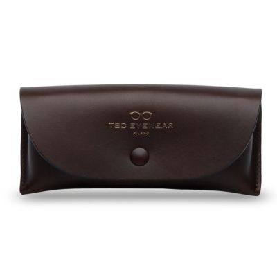 Brown Eco Leather Glasses Case