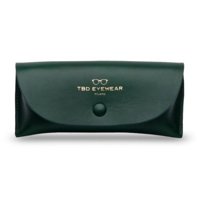 Green Eco Leather Glasses Case